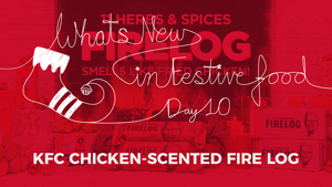 What's New In Food: KFC Chicken-Scented Fire Logs